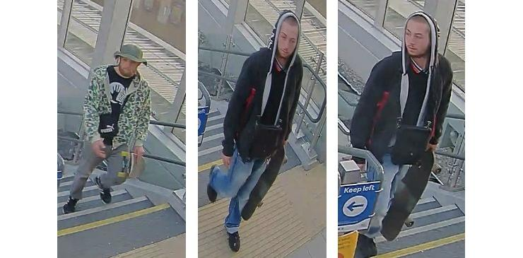 Can YOU help British Transport Police officers to identify these two men?