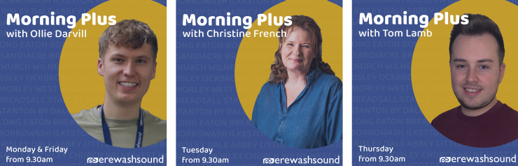 Ollie Darvill, Christine French and Tom Lamb - Morning Plus presenters