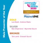 Tom Lamb collected a 'bronze' award at the 2020 CRAs