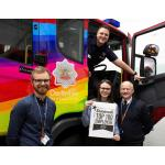 Members of the Service Diversity and Inclusion Team: L-R Inclusion Officer Lukasz Gazda Positive Action Officer Rachel Salmon Station Manager Marc Redford  (Top) Crew Manager Ashley Turner