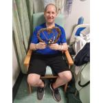 Stephen after transplant with LVAD