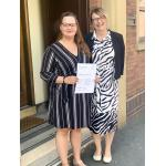 Wathall's bereavement support coordinator Fay Floor, left, with Helen Wathall.