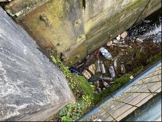 Bottles in River Derwent