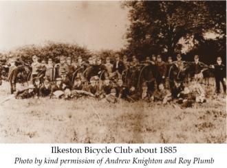 Ilkeston Bicyle Club circa 1885 (credit Andrew Knighton & Roy Plumb)