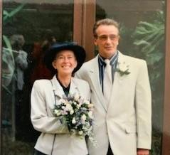 Helen and Colin on their wedding day