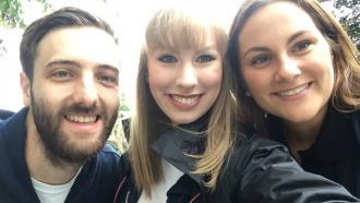 Erewash Sound presenters Mark Jarvis, Emma Snow and Jeannie Nicolas
