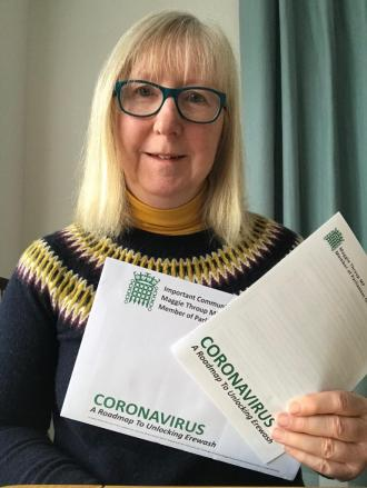 Erewash MP Maggie Throup launches her own Covid-19 roadmap
