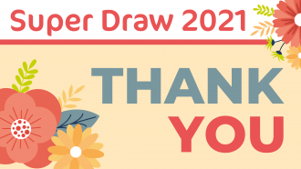 Super Draw thanks from Treetops
